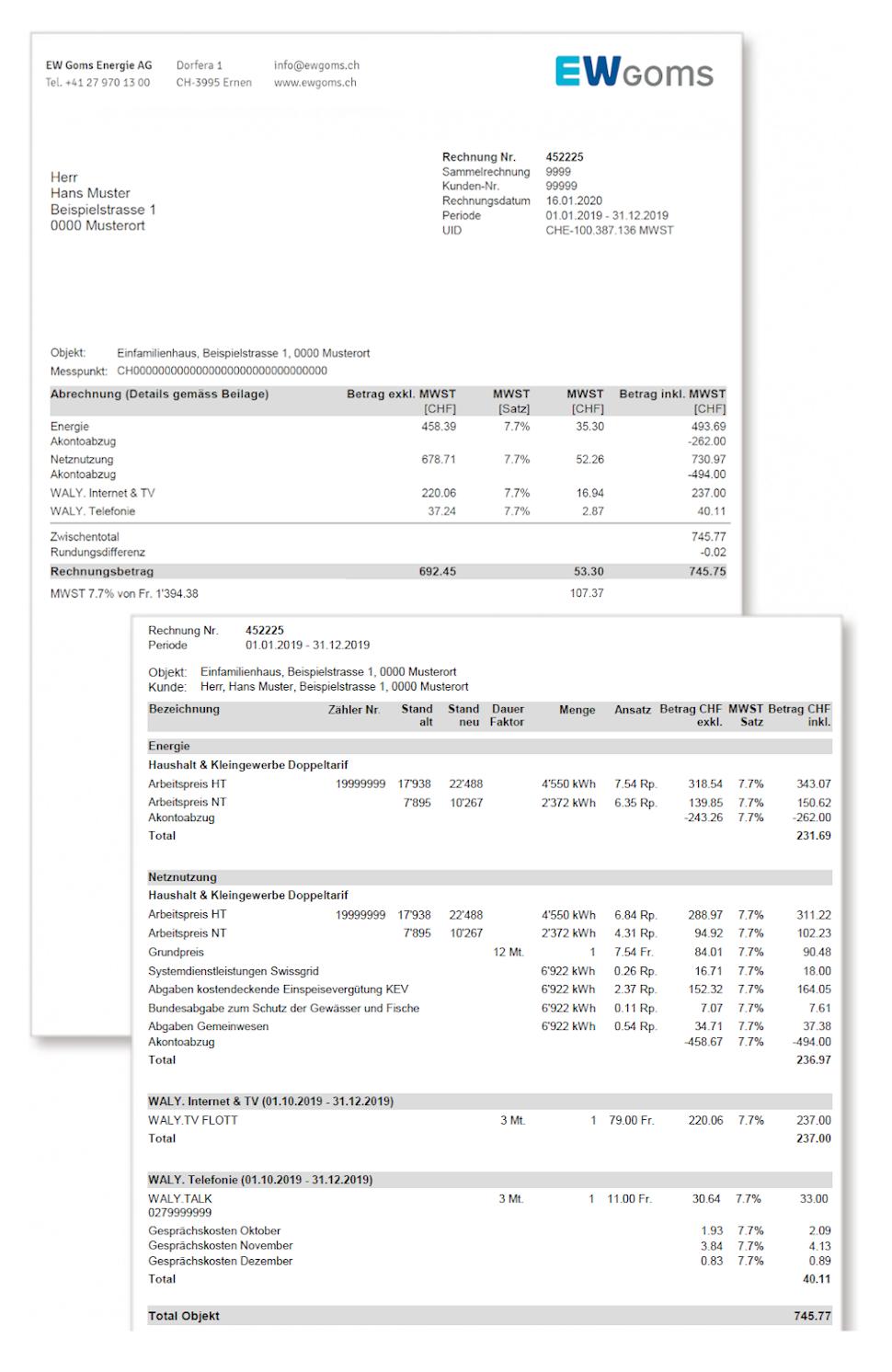 Information Rechnung Bild